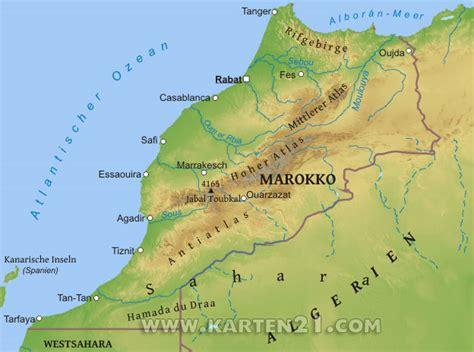 hauptstadt marokko karte