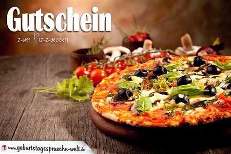 gutschein zum pizzaessen gutscheine zum geburtstag als