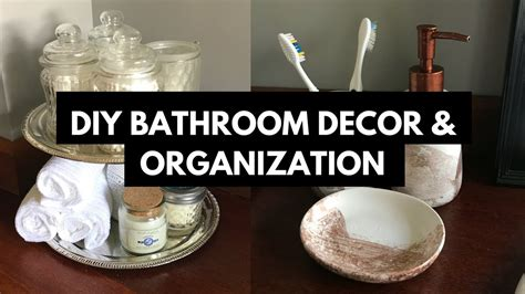 dollar tree bathroom decor bathroom makeover youtube