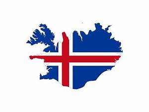 Illustration Of The Iceland Flag On Map Of Country
