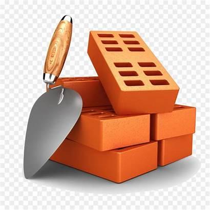 Brick Bricks Clipart Masonry Cartoon Building Wall