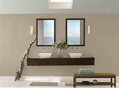 Grey Bathroom Paint Colors With Floating Wooden Vanity And White Sinks Bathrooms Contemporary Grey Bathrooms And Grey Bathrooms Designs Colors Blue Good Colors For Small Bathroom Best Bathroom Paint Colors Bathroom Color Bathroom Ideas Pinterest Bathroom Colors
