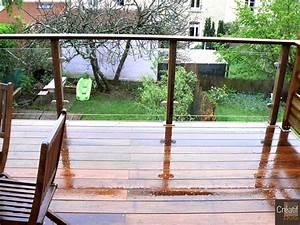 Garde Corps Terrasse Bois : garde corps bois verre limoges haute vienne 87 garde ~ Dailycaller-alerts.com Idées de Décoration