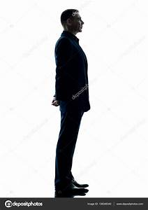 business man standing silhouette isolated — Stock Photo ...