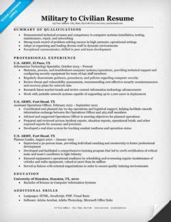 Resume To Civilian Translation by Truck Driver Resume Sle Resume Companion