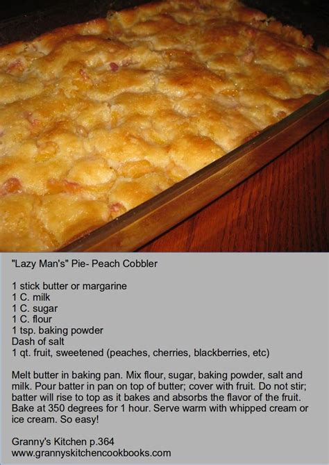 easy peach cobbler ideas  pinterest canned