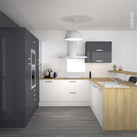 cuisine gris et cuisine gris et bois photo avec charmant cuisine gris et
