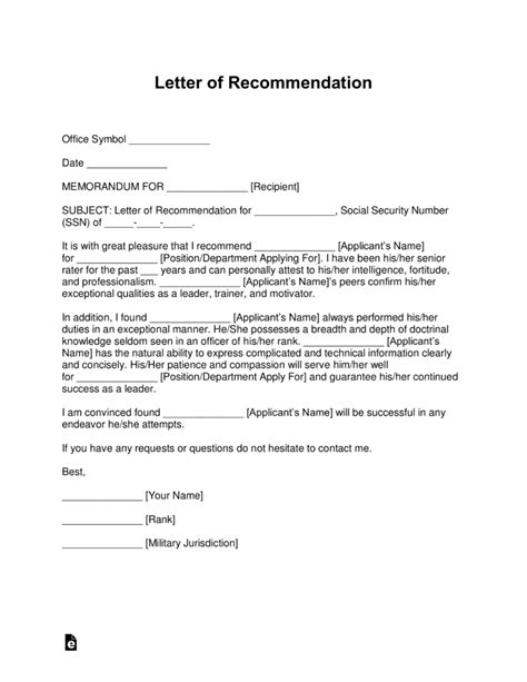 usar get template part free military letter of recommendation templates sles