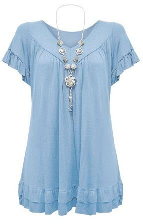 womens  size frill necklace gypsy tunic  neck top