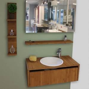 Destockage Salle De Bain : meubles de salle de bain bambou caramel huil destockage modele expo atlantic bain ~ Teatrodelosmanantiales.com Idées de Décoration