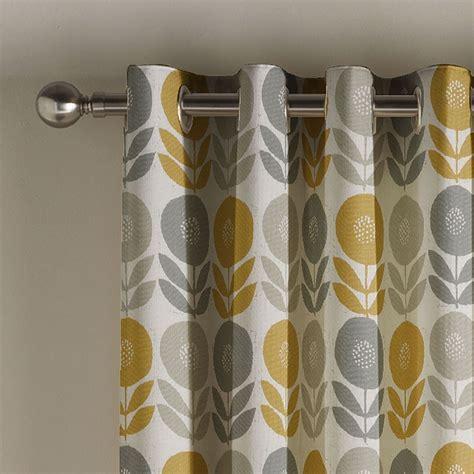 montgomery mustard uppsala lined eyelet curtains