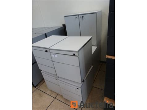 4 Office Drawer Units On Wheels, 3 Cabinets