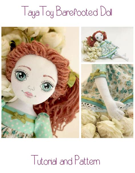 doll making sewing  pattern tutorial barefooted cloth doll