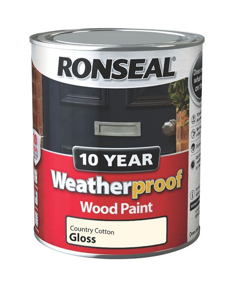 ronseal country cotton gloss wood paint ml