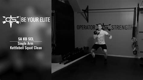 kettlebell clean arm squat single
