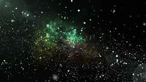 3D Animation Of Green Galaxy And Nebula With Shining Star ...