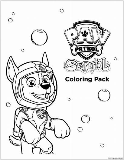 Patrol Paw Coloring Ausmalbilder Sea Chase Kleurplaat