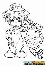 Coloring Pages Fishing Precious Moments Fish Printable Sheets Colouring Catching Adult Getcolorings sketch template