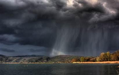 Rain Rainy Cloud Island Wallpapers Nature Landscape
