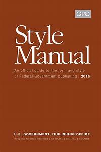 New Gpo Style Manual 2016