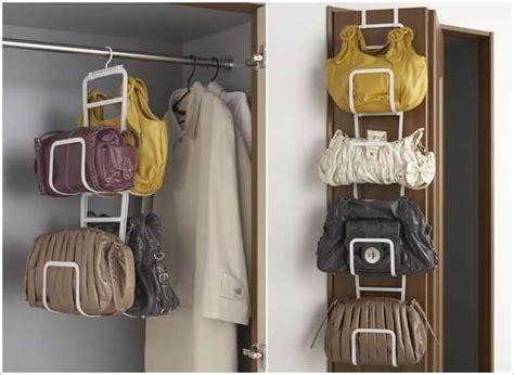 clever handbag storage ideas  solutions