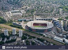 An aerial view of the Emirates Stadium, home of Arsenal FC