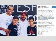 Rivaldo and his kids, VIP fans of Leo Messi