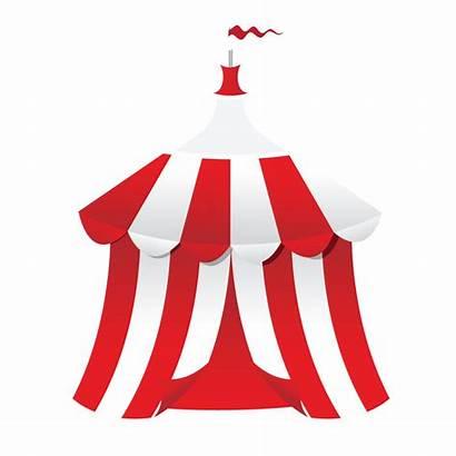 Carnival Clip Tent Circus Cartoon Clipart Vector