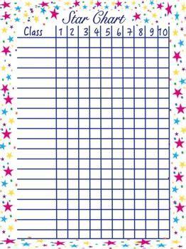 freebie star chart  class behavior chart record