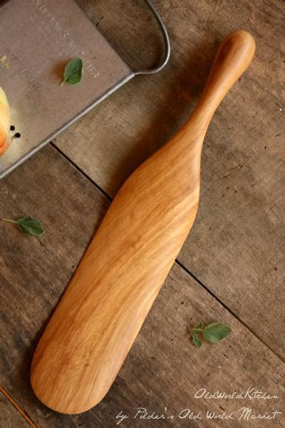 Large Wooden Spurtle   Perfect for Men ? Old World Kitchen