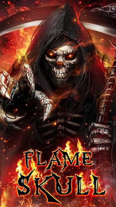 Skull Flaming Reaper Flame Grim Wallpapers Badass
