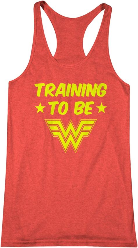 Training To Be Wonder Woman Workout Tank Top Comic Book By