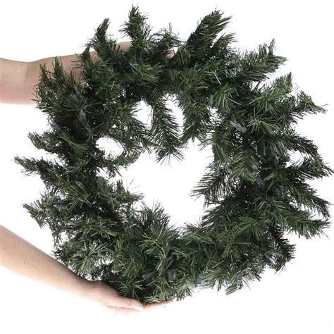 lighted pine christmas wreath wreaths floral supplies