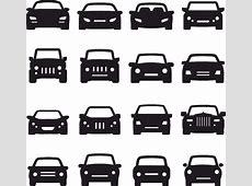 Car Silhouette Front Vectors Free Vector cdr Download