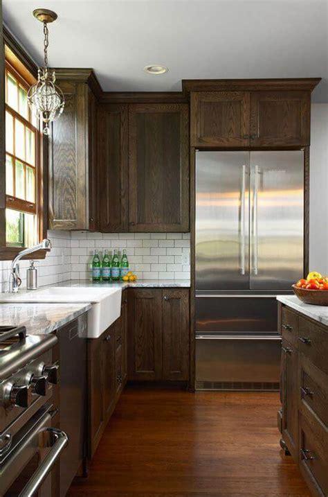 dark wood kitchen designs   classy touch