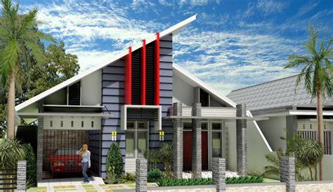 model rumah minimalis atap miring gambar desain model