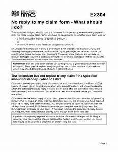 Fillable online ex304 no reply to my claim form what for My claim documents