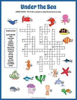 sea crossword puzzle  puzzles  print tpt