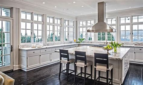 kitchens  large windows decor outline