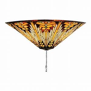 Meyda tiffany nuevo mission light mahogany bronze incandescent ceiling fan kit at