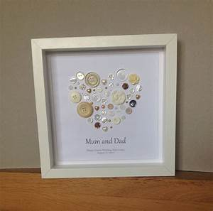 golden wedding anniversary button art 50th anniversary With 50 year wedding anniversary gift