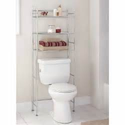mainstays 3 shelf bathroom space saver satin nickel