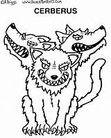 Coloring Cerberus Drawings 912px 86kb sketch template