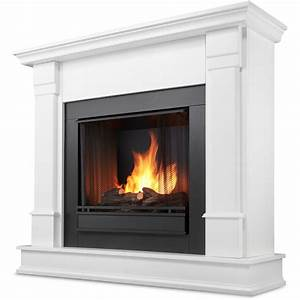 Real Flame Silverton 48-Inch Gel Fireplace - White - G8600
