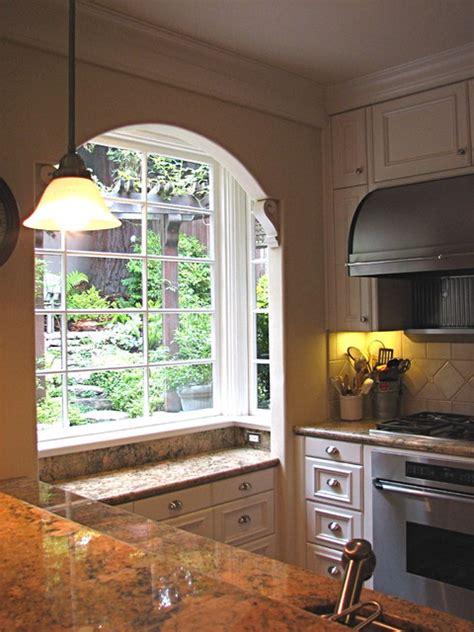 kitchen bay window mediterranean kitchen san