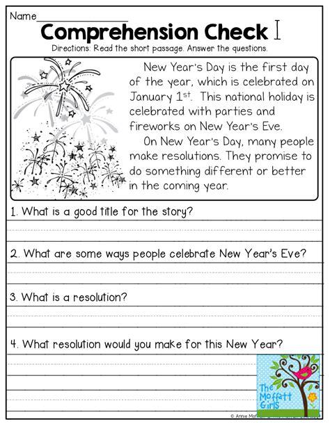 worksheet free reading comprehension worksheets for 1st