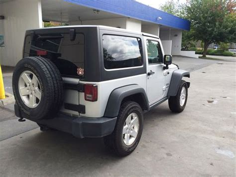 silver jeep 2 door purchase used 2012 silver jeep wrangler sport fully loaded