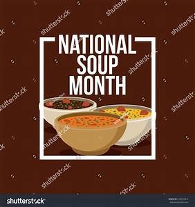 National Soup Month Vector Illustration Stock Vector ...
