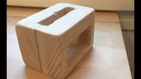 diy passive wooden iphone speaker dock youtube