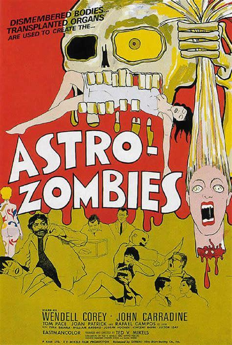 zombies astro movie poster 1968 zombie posters tura satana movies horror john lorber kino release films dvd blu ray shelter